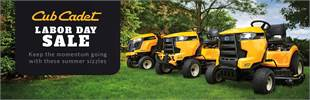 Cub Cadet labors day sale. Click here to see our promotions now!