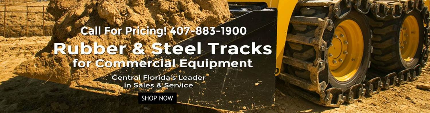 Rubber  Steel Tracks Landing Banner 1