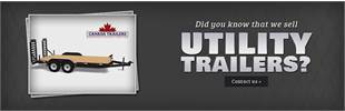 We sell utility trailers! Contact us for details.
