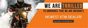 We are thrilled to announce that we are Ontario's newest KTM dealer!