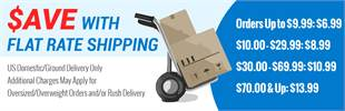 Save with flat rate shipping!