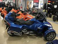 2018 Can-Am SPYDER RT LTD SE6 OXFORD BLUE METALLIC CHROME TRIM