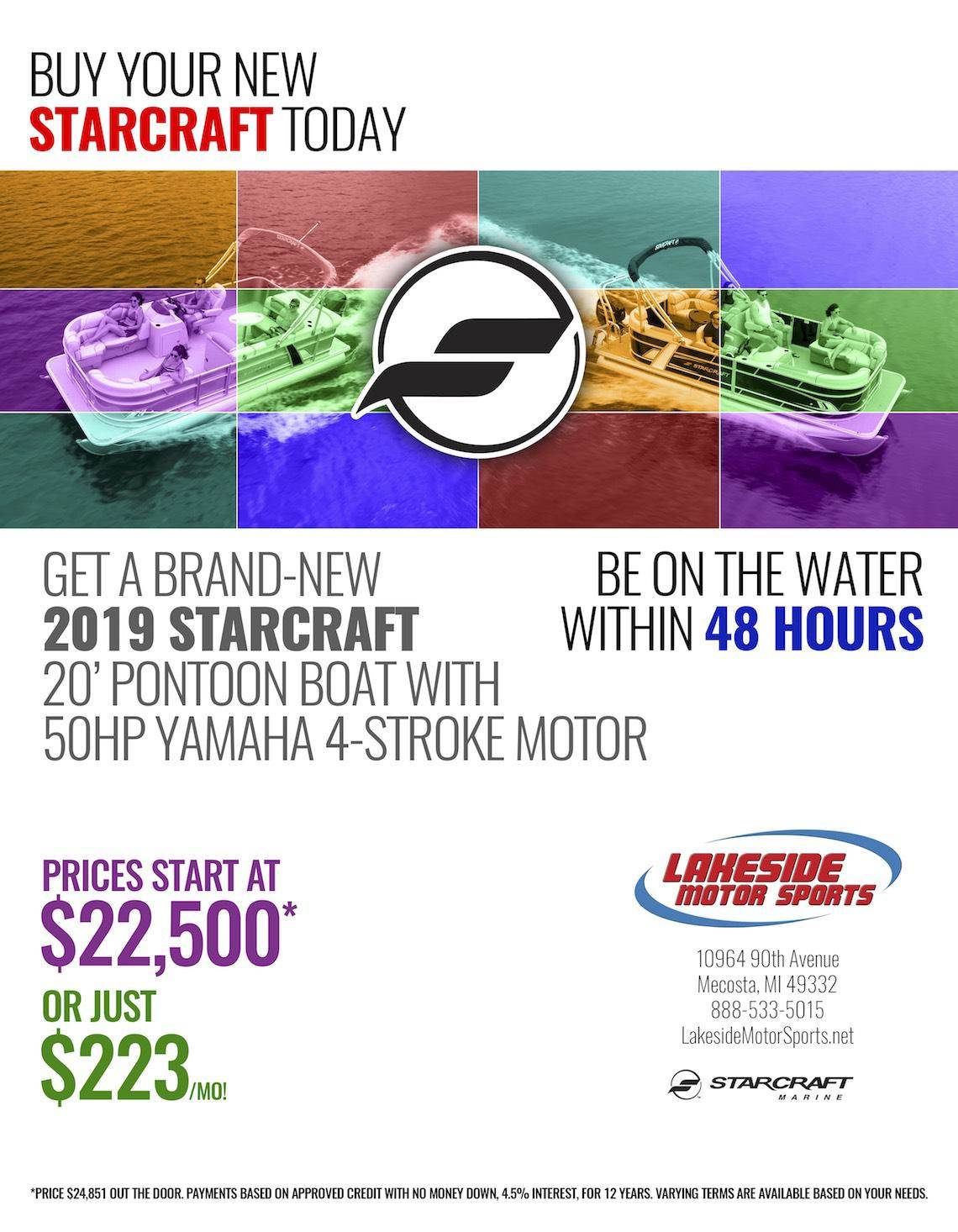 August 2018 Starcraft Ad Lakeside Yamaha 1140