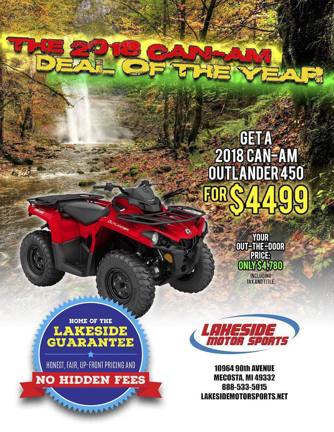October Can-Am Deal-Lakeside 1140