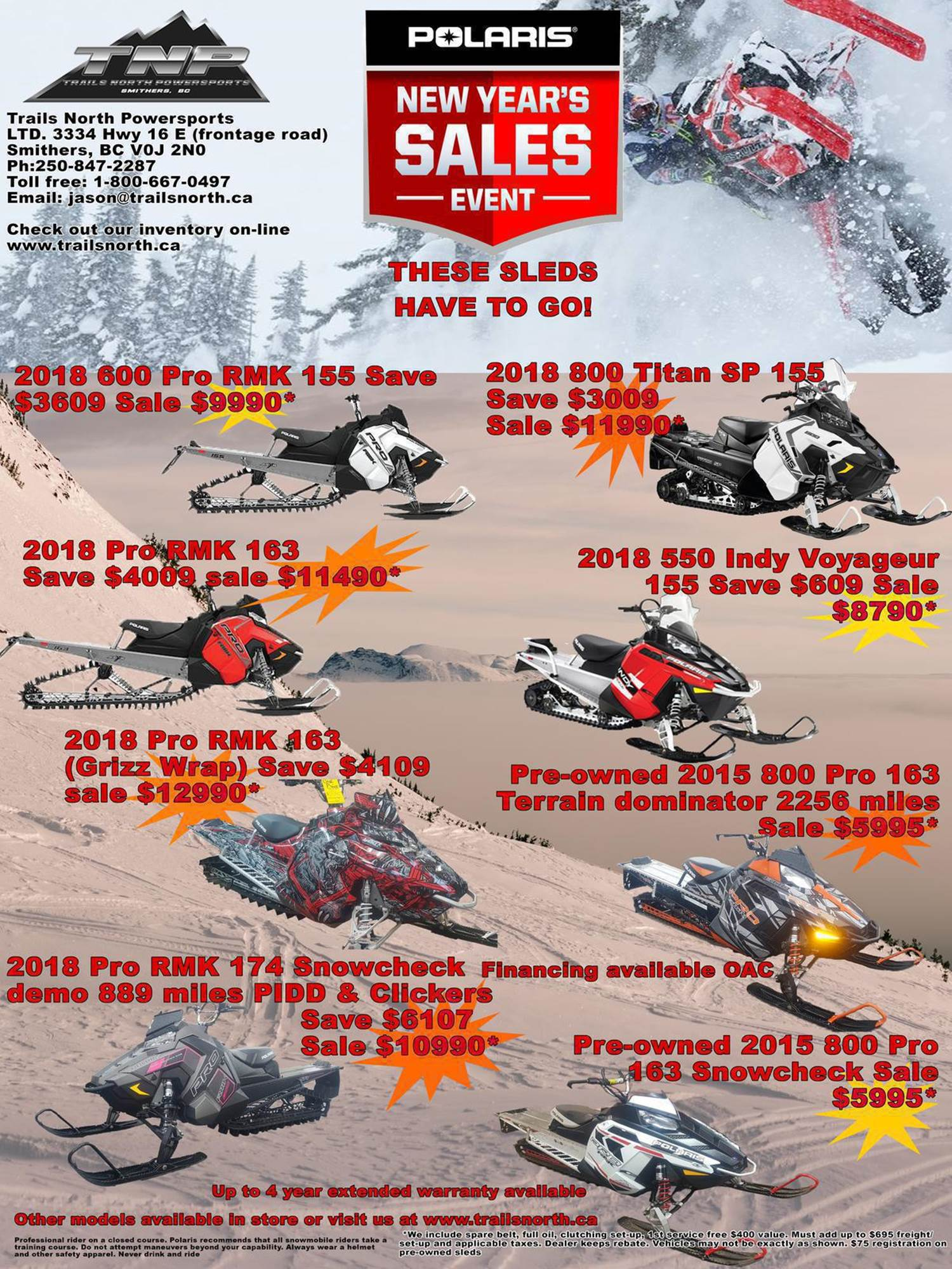 polaris new years sales event