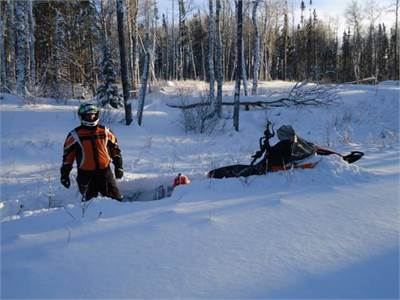 Snowmobiling in Hudson Bay