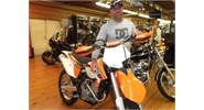 Clay is ready to hit the trails on his new 2012 KTM 250 XCF!!