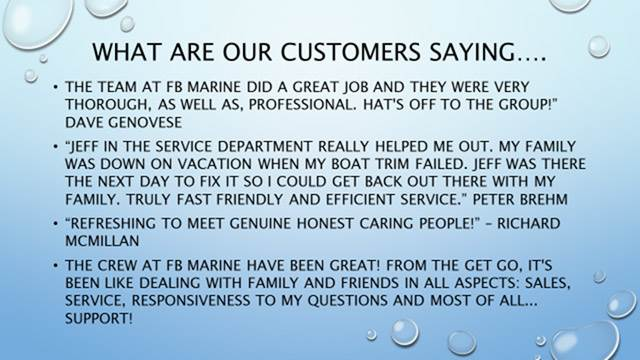 What are our customers saying...