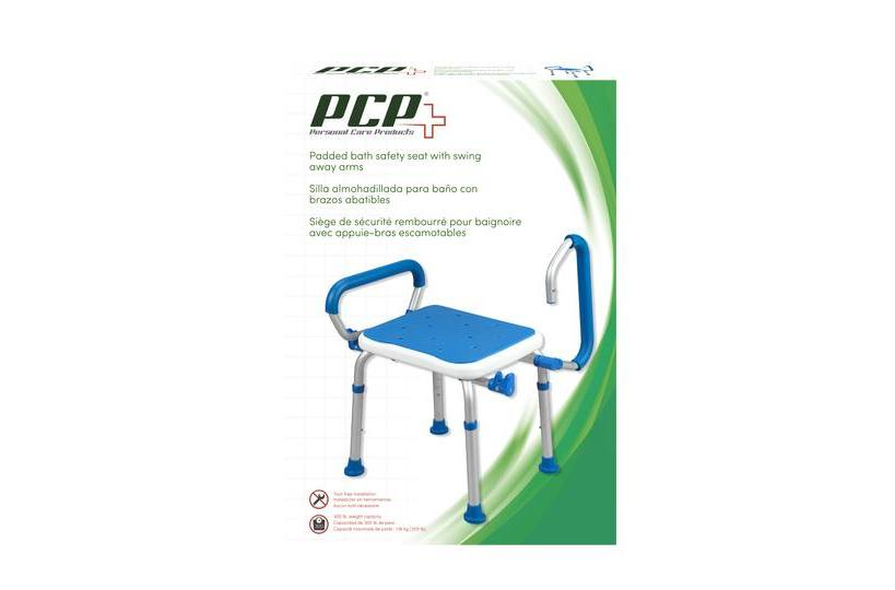 7106 PADDED BATH SAFETY SEAT WITH SWING AWAY ARM for sale