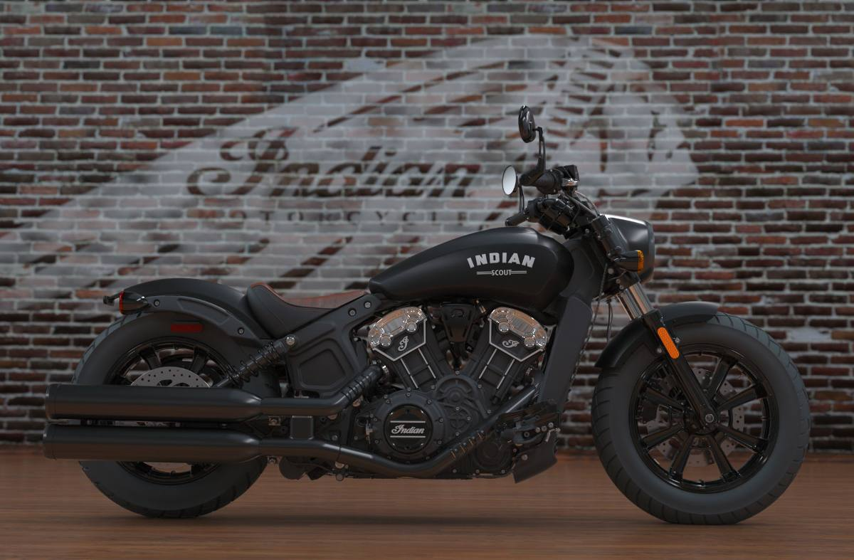 2018 indian motorcycle indian® scout® bobber abs - thunder black