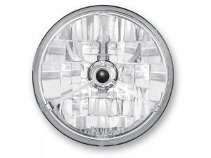 7in. Diamond-Cut Trillient Headlight with Black Dot