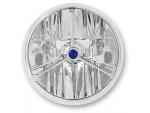 7in. Wave-Cut Trillient Headlight with Blue Dot
