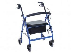 FEATHERLIGHT® ALUMINUM FOUR WHEEL WALKER