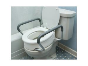 TOILET SEAT RISERS WITH REMOVABLE ARMS