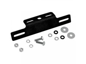 Black Aluminum License Mount with Turn Signal Brackets