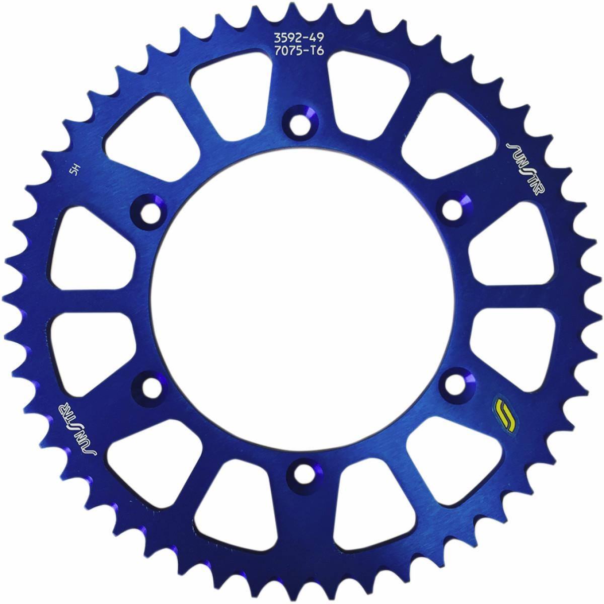 Sunstar 5-355951 Works Triplestar 51-Teeth 520 Chain Size Rear Aluminum Sprocket