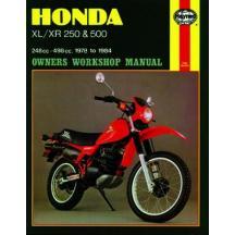 Honda Xl Xr 250 500cc 78 84 Exc Rfvc Models Repair Manual Haynes