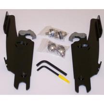 Memphis Shades MEB8982 Black Trigger-Lock Mount Kit for Kawasaki VN900C Vulcan 2007-2015 and Yamaha XVS650 V-Star Custom 1998-2015