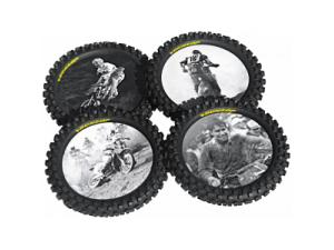 Knobby Tire Drink Coasters