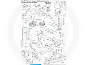 revtech engine 1 (800) 404 1553 from canton cycle specialtiesrevtech gen 3 110 \u0026 100 4x4 motor parts