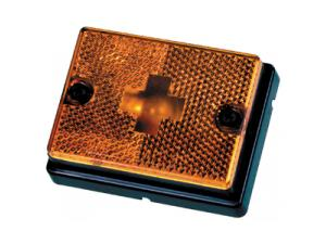 Amber Lens for Marker Light with Square Body