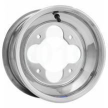 4//115 AMS Rolled-Lip Spun Aluminum Wheel 9x8-3+5 Offset Black