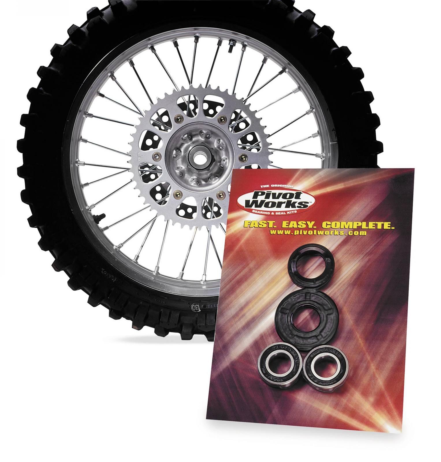 Pivot Works Front Wheel Bearing Kit for Kawasaki KVF650 Prairie 2002-2003