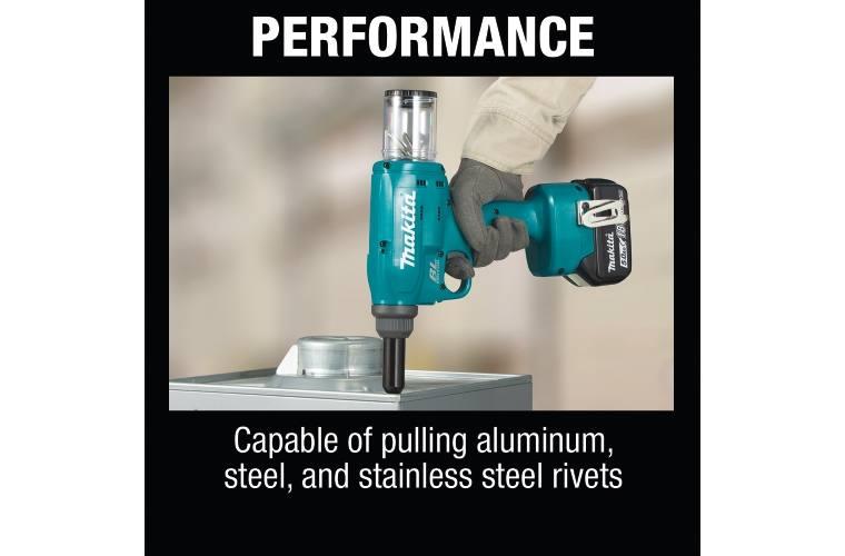 5.0Ah Makita XVR02T 18V LXT Lithium-Ion Brushless Cordless Rivet Tool Kit