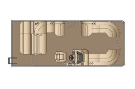 2021 Harris boat for sale, model of the boat is Sunliner 230 & Image # 13 of 13