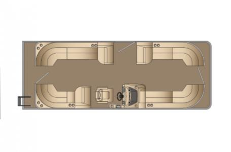 2021 Harris boat for sale, model of the boat is Sunliner 250 & Image # 14 of 17