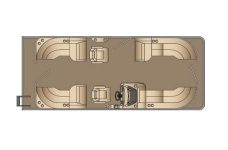 2021 Harris boat for sale, model of the boat is Cruiser 230 & Image # 9 of 13