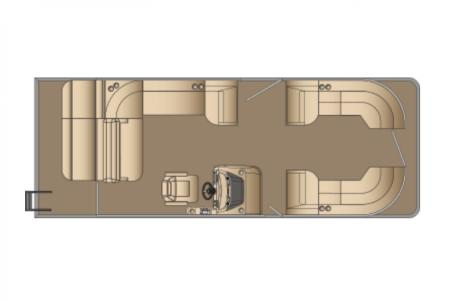 2021 Harris boat for sale, model of the boat is Sunliner 250 & Image # 17 of 17