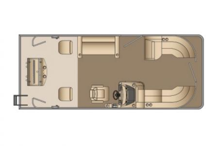 2021 Harris boat for sale, model of the boat is Cruiser 230 & Image # 11 of 13