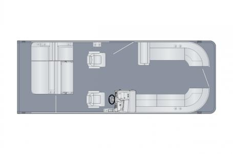 2021 Harris boat for sale, model of the boat is Sunliner 250 & Image # 15 of 17