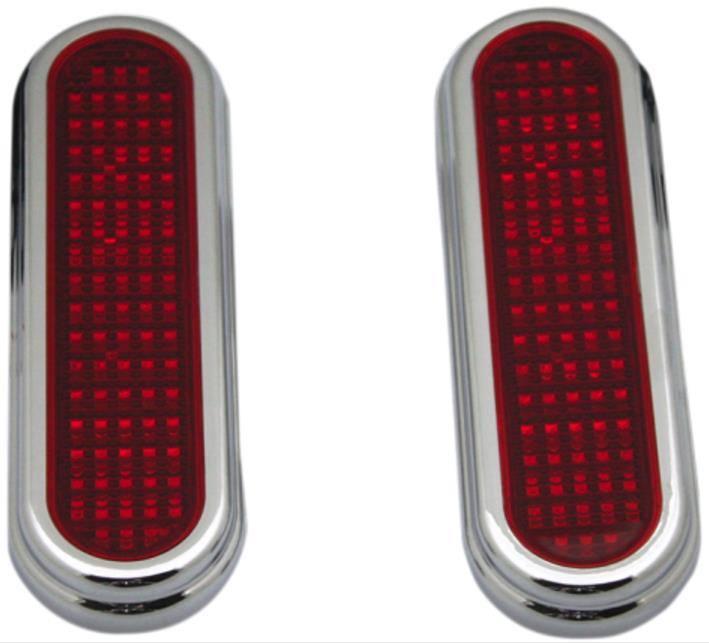 GENFLATZSMKC Custom Dynamics Flatz Lights Red LEDs with Smoke Lenses