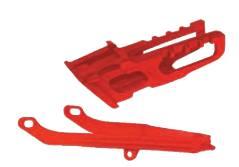 Black HO04665-001 Black Color UFO Plastics Chain Guide and Swingarm Slider Kit