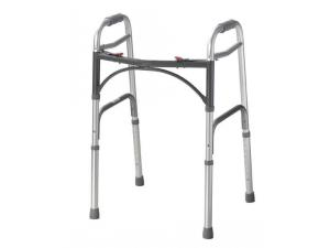 TWO BUTTON DELUXE FOLDING WALKERS