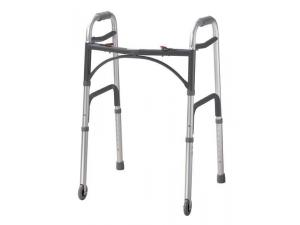 DELUXE WHEELED FOLDING WALKER