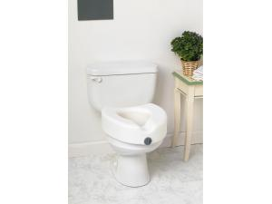 ELEVATED LOCKING TOILET SEAT