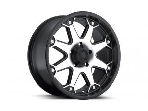 Bolt - 198U - Satin Black Diamond Cut Face Wheels