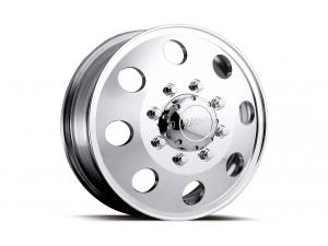002 Dually Polished Front Wheels