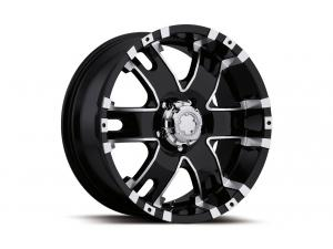 Baron - 201/202 Satin Black Diamond Cut Wheels