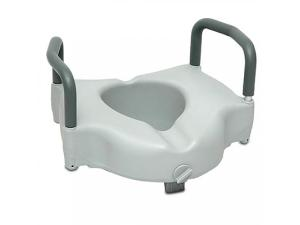 PROBASICS® CLAMP-ON RAISED TOILET SEAT WITH ARMS