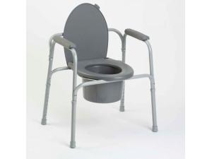 ALL-IN-ONE ALUMINUM COMMODE