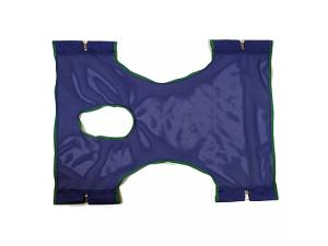 INVACARE STD SLING, POLY MESH W/ COMMODE OPENING