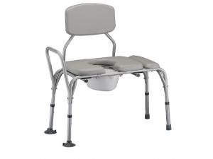 PADDED TRANSFER BENCH AND COMMODE