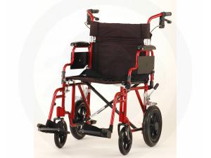 "19 INCH TRANSPORT CHAIR WITH 12"" REAR WHEELS"