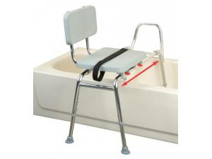SNAP N SAVE SLIDING TRANSFER BENCH W/PADDED SEAT &