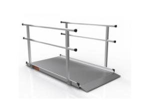 PORTABLE RAMP, SOLID SURFACE W/HANDRAILS