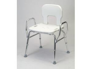 SNAP-N-SAVE SHOWER CHAIR W/BACK & ARMS HEAVY DUTY